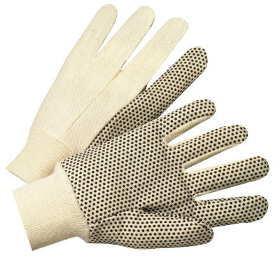 1000 Series Dotted Canvas Gloves, Cotton Canvas, Heavy Nap, Men's, White