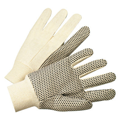 1000 Series Dotted Canvas Gloves, Cotton Canvas, Men's, White