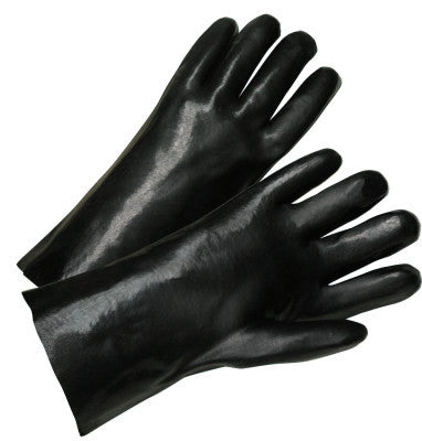 12 in Long PVC Coated Gloves, Black