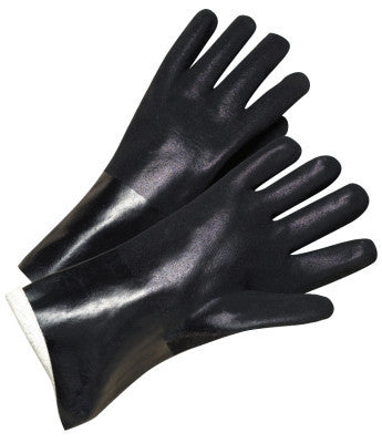 14 in Long PVC-Coated Jersey-Lined Gloves, Black