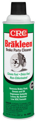Brakleen Non-Chlorinated Brake Parts Cleaners, 14 oz Aerosol Can, Less 45% VOC