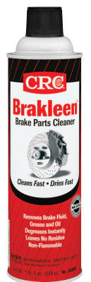 Brakleen Brake Parts Cleaners, 20 oz Aerosol Can