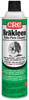 Brakleen Non-Chlorinated Brake Parts Cleaners, 14 oz Aerosol Can, Very Low VOC