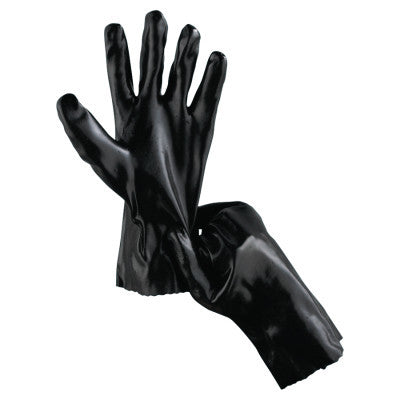 Economy Dipped PVC Gloves, Large, Black