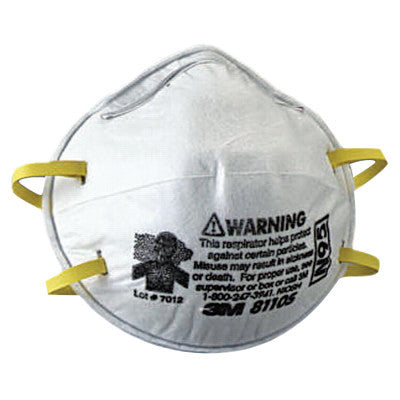 N95 Particulate Respirators, Half Facepiece, Two fixed straps, Sm, 20/bx