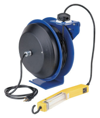PC13 Series Power Cord Reels, 12/3 AWG, 20 A, 50 ft, Single Industrial Plug
