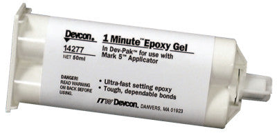 1-Minute Gel Epoxy, 50 mL, Dev-Pak, Amber