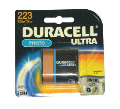 Duracell Batteries, Lithium Cell, 6 V, 223, 1 per pack