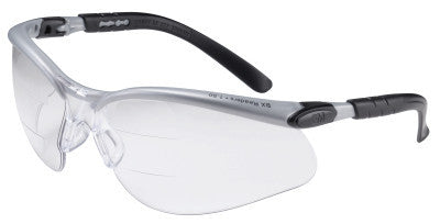BX Safety Eyewear, +2.0 Diopter Polycarbon Anti-Fog Lenses, Silver/Black Frame