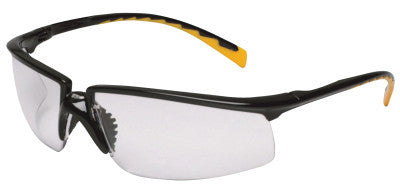 Privo Safety Eyewear, Indoor/Outdoor Mirror Polycarbonate Lenses, Black Frame