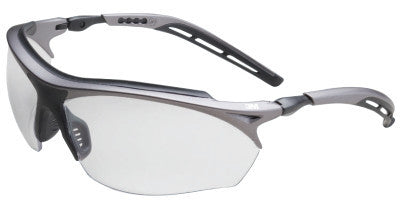 Maxim GT Safety Eyewear, Clear Polycarbonate Anti-Fog Lenses, Silver/Black Frame