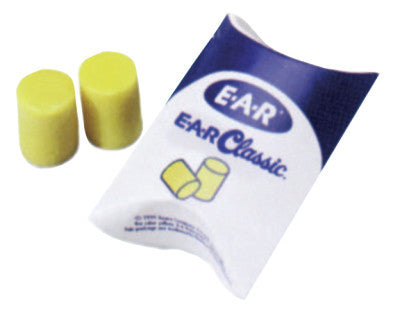 E-A-R Classic Foam Earplugs, Uncorded, Pillow Pack, 200 pair per box