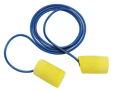 E-A-R Classic Foam Earplugs, PVC, Corded, 200 pair per box
