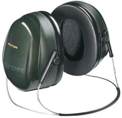 Optime 101 Earmuffs, 26 dB NRR, Dark Green, Behind the Head
