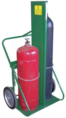150 Series Carts, Holds 2 Cylinders, 9 1/2 in-12 1/2 in dia., w/Firewall