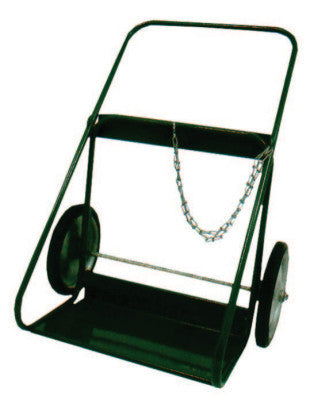 "400 Series Cart, Holds 2 Cylinders, 9.5""-12.5"" dia., 14 in Semi-Pneumatic Wheels"