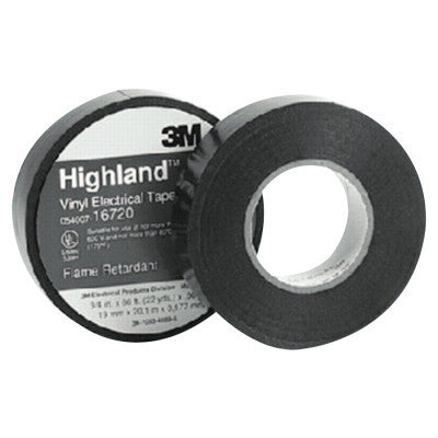 Highland Vinyl Commercial Grade Electrical Tapes, 66 ft x 3/4 in, Black