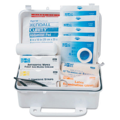 10 Person ANSI First Aid Kits, Weatherproof Plastic