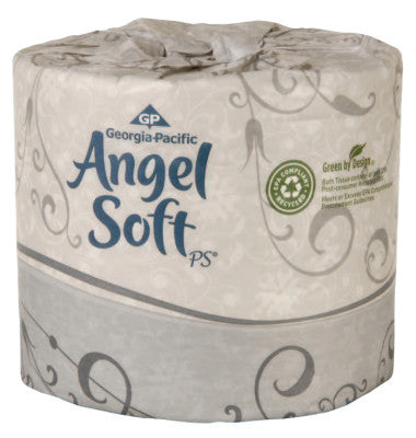 Angel Soft ps 2-Ply Premium Embossed Bathroom Tissue, 4.05 x 4, 135 ft, 8/case