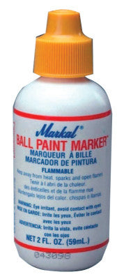 Ball Paint Marker, White, 1/8 in, Metal Ball Point