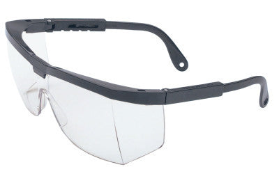 A200 Series Eyewear, Clear Polycarbonate Hard Coat Lenses, Black Frame