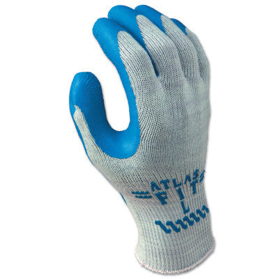 Atlas Fit 300 Rubber-Coated Gloves, X-Large, Gray/Blue