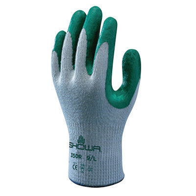 Atlas Fit 350 Nitrile-Coated Gloves, Medium, Green/Gray