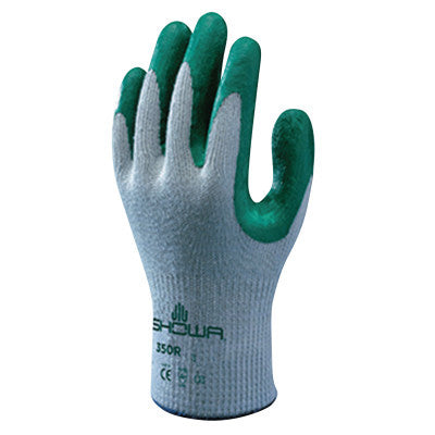 Atlas Fit 350 Nitrile-Coated Gloves, X-Large, Green/Gray