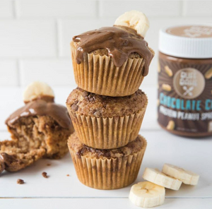Chocolate Banana Protein Muffins 🍫🍌