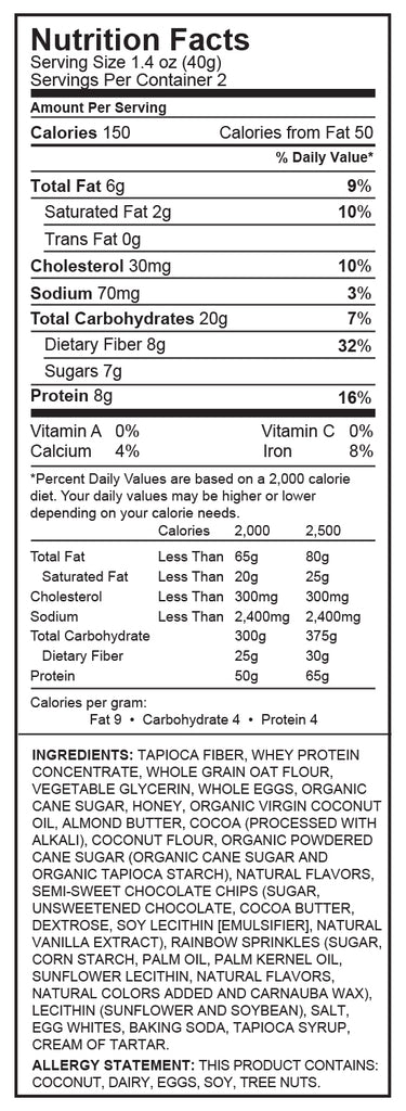 Chocolate Donut Protein Cookie Nutrition Facts