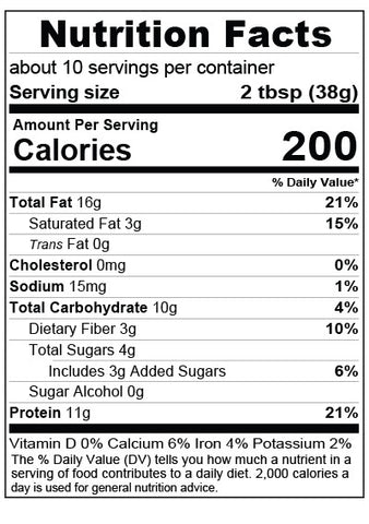 Choco. Chip Butter Nutrition Facts