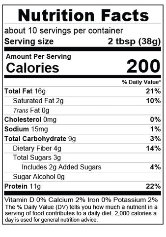 Coffee Bean Almond Spread Nutrition Facts