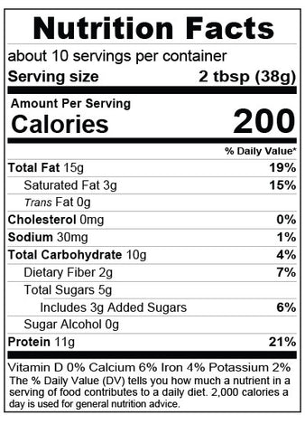 Cookie Almond Butter Nutrition Facts