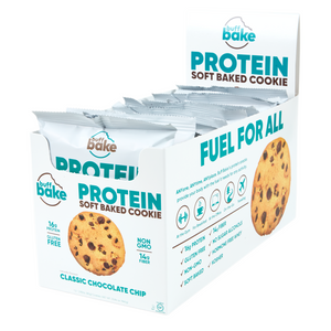 Buff Bake Protein Soft Baked Cookie, Classic Chocolate Chip, 80g, 12 pack