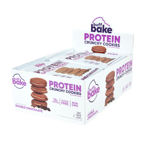 Buff Bake Crunchy Protein Sandwich Cookie, Double Chocolate, 51g, 8 Pack