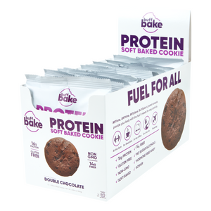 Buff Bake Protein Soft Baked Cookie, Double Chocolate, 80g, 12 pack