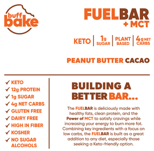 Peanut Butter Cacao Fuel Bar -  - Buff Bake