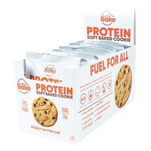 Buff Bake Soft Baked Protein Cookies, Peanut Butter Cup, 80 gram, 12 pack
