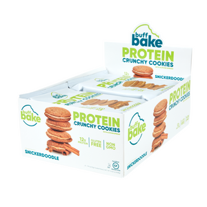 Buff Bake Crunchy Protein Sandwich Cookie,Snickerdoodle, 51g, 8 pack