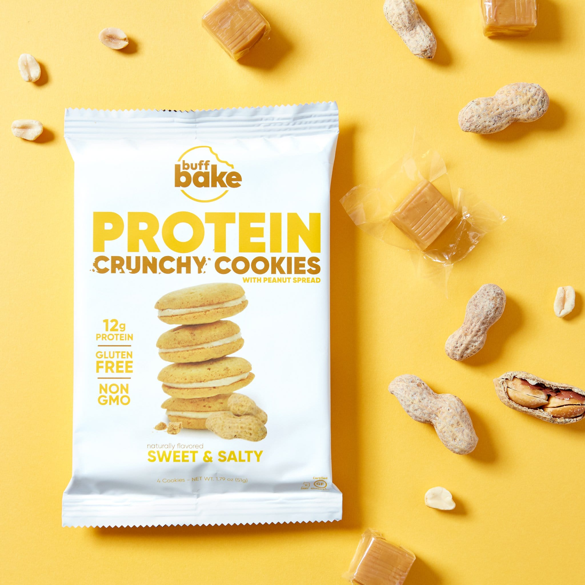 Buff Bake Crunchy Protein Sandwich Cookie Sweet And Salty Ingredients