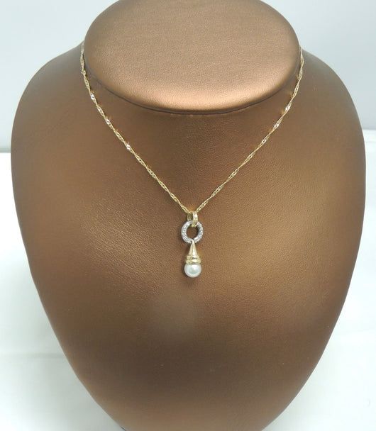 Diamond Pearl Pendant
