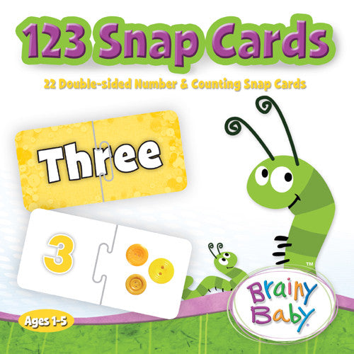 Brainy Baby 123 Snap Cards Puzzle and Game