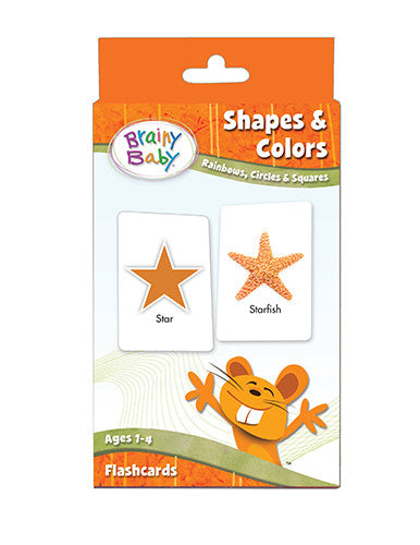 SHAPES & COLORS Flashcards SET Rainbows, Circles and Squares for Preschool Children by Brainy Baby®