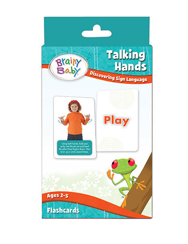 Brainy Baby Talking Hands Flashcard Set Discovering Sign Language Flash Cards