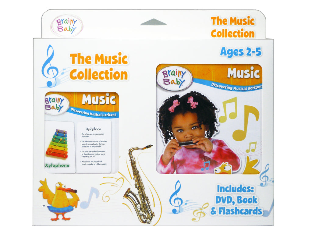 Brainy Baby Teach Your Child Music: Board Book, Flashcards and DVD