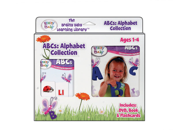 Brainy Baby ABCs: Board Book, Flashcards and DVD