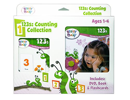 Brainy Baby 123s: Introducing Numbers 1 to 20 Board Book, Flashcards and DVD