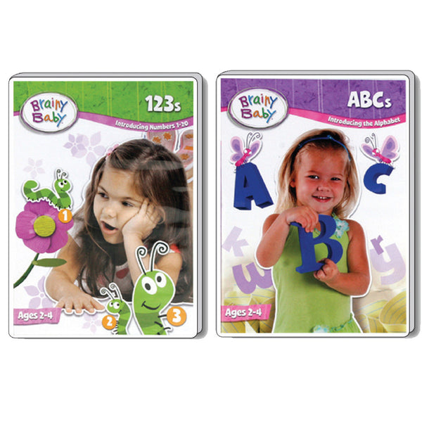 Brainy Baby Teach Your Child ABCs and 123s: Introducing the Alphabet and Numbers DVDs