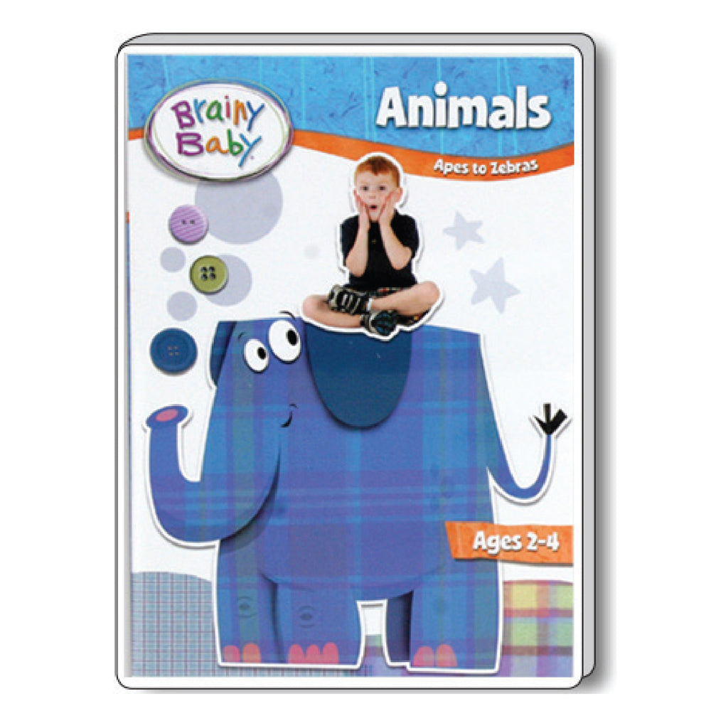 Brainy Baby Teach Your Child Animals: Apes to Zebras DVD Deluxe Edition