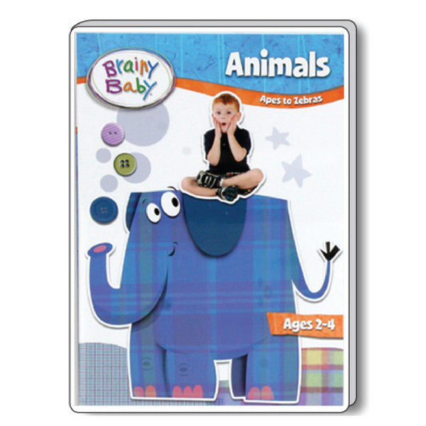 Brainy Baby Animals: Apes to Zebras DVD Deluxe Edition